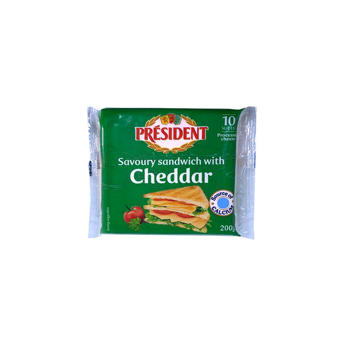 Sliced Cheese Sandwich | President, 10 Slice, 200 g