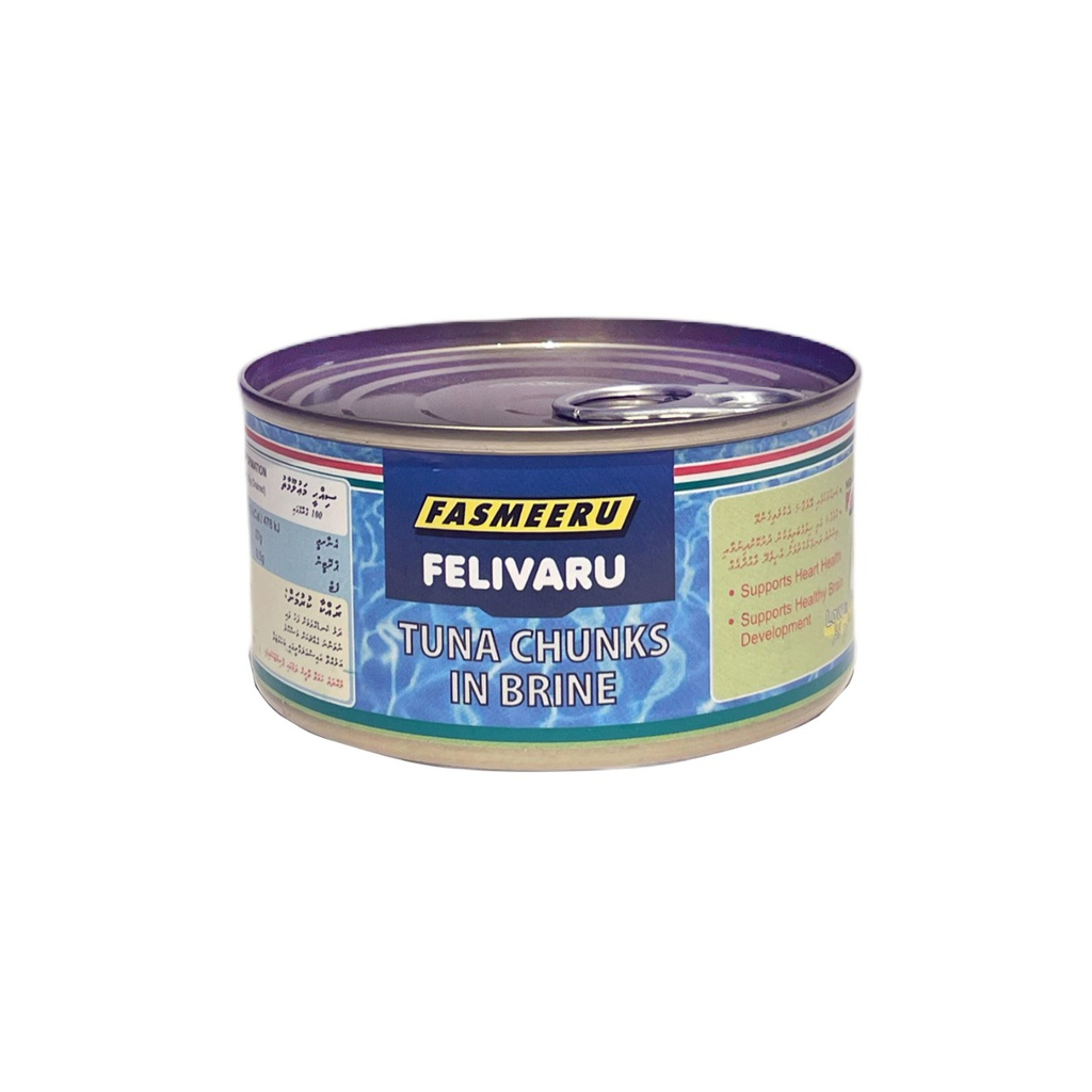 Tuna Chunks In Brine | Felivaru, 180 g