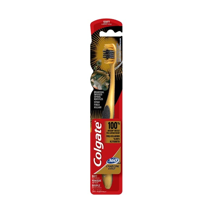 Toothbrush 360 Charcoal Gold | Colgate (Soft)
