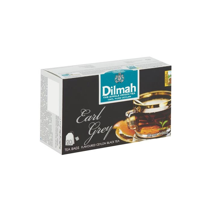 Dilmah Earl Grey Flavoured Ceylon Black Tea (20 Bags)