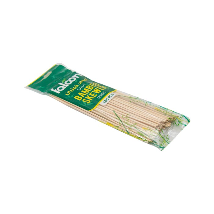 "Falcon Bamboo Stick Bbq Skewers 8"" 100'S"
