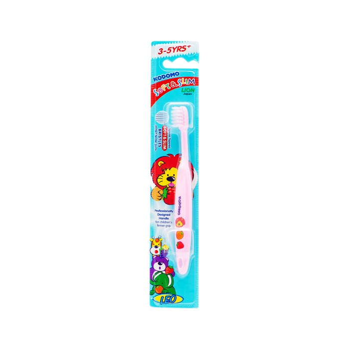 Kodomo Toothbrush for Baby Teeth with Toothpaste 0.5 - 3 Years