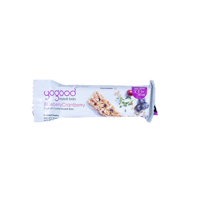 YoGood Muesli Bar Blueberry Cranberry 23 g