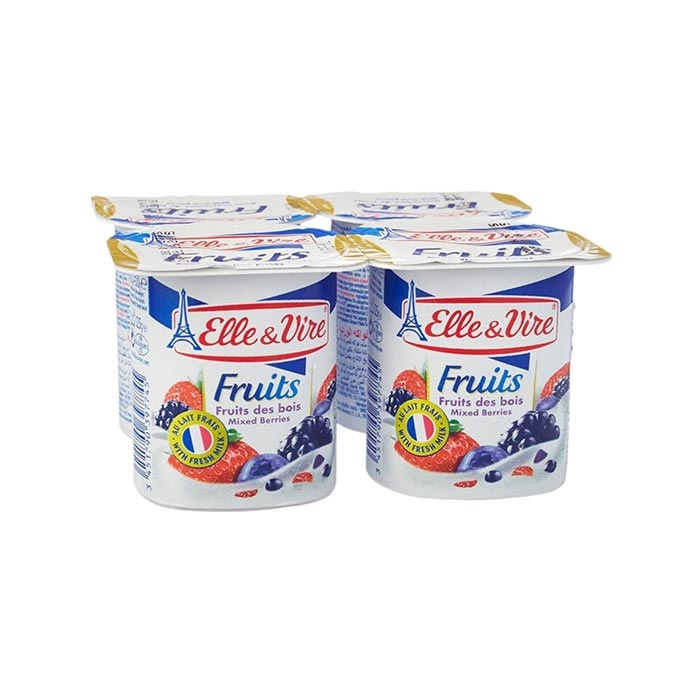 Elle & Vire Yogurt Mixed Berries 125 g