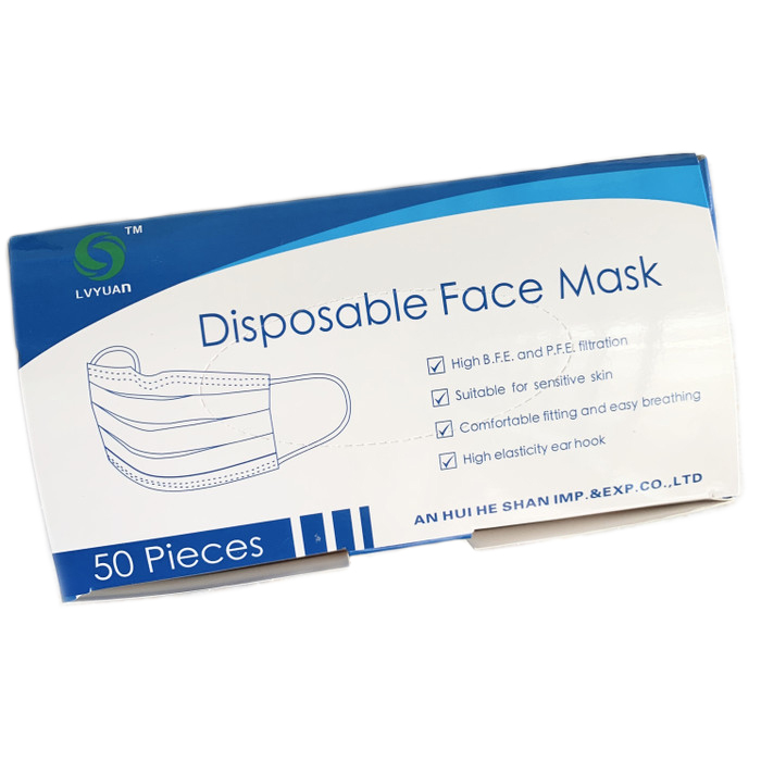 Lvyuan Disposable Face Mask  50 Pcs