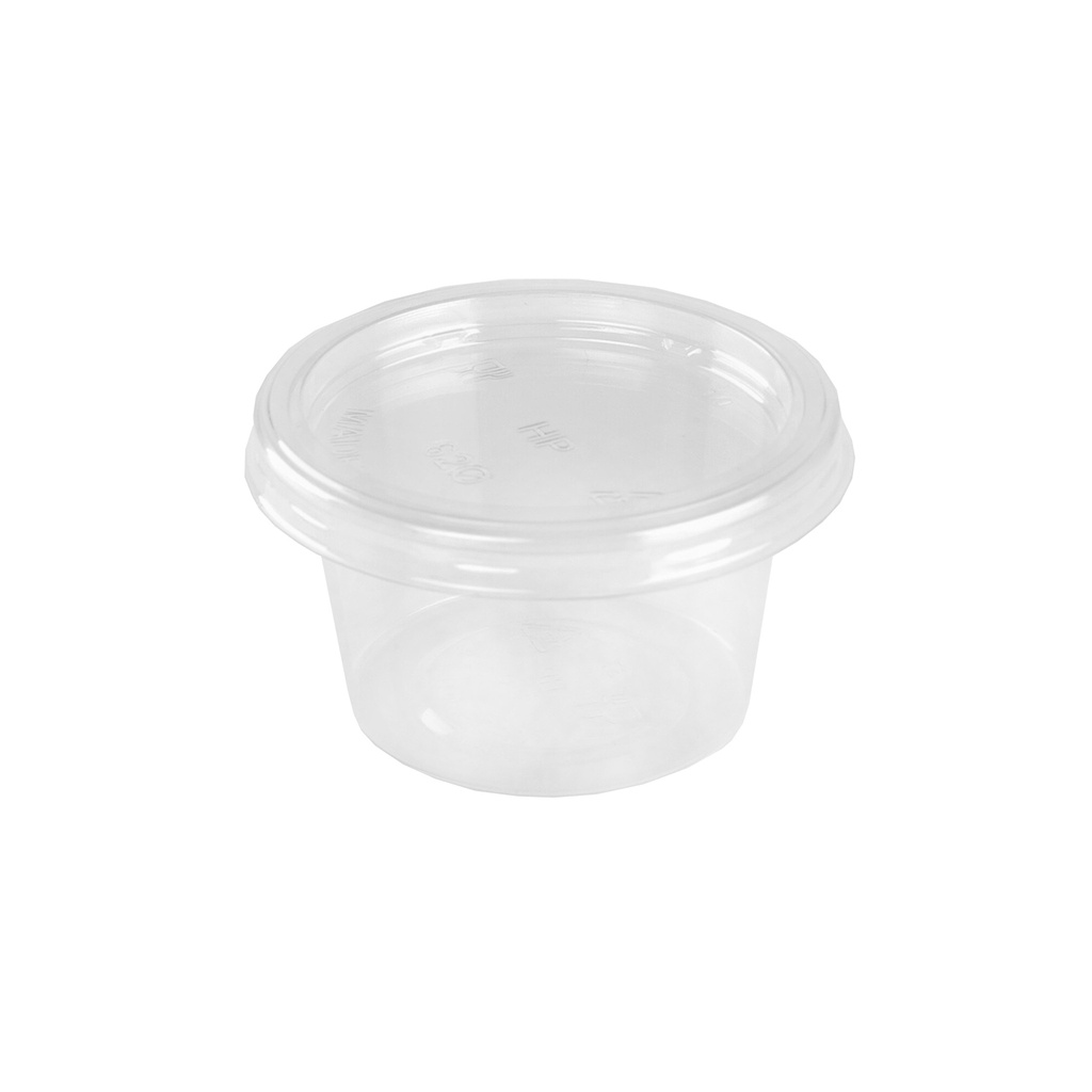 Hotpack 2 Oz Clear Portion Cup Pet + Lid  | 62 mm Diameter