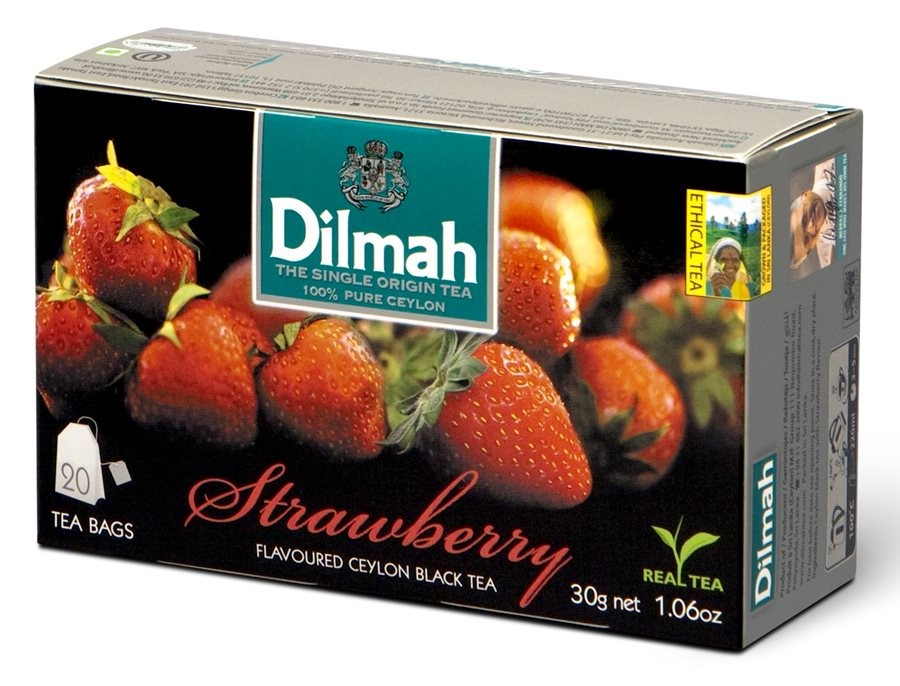 Dilmah Strawberry Flavoured Ceylon Black Tea 30g