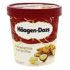 Haagen-Dazs Ice Cream Macadamia Nut Brittle 100 ml