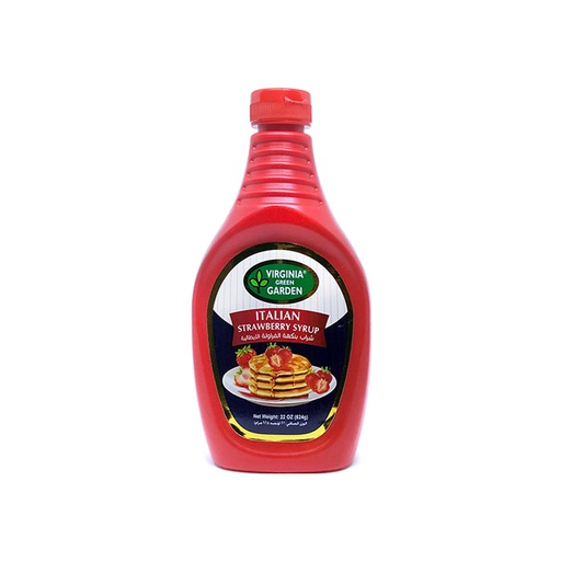[I000237] Strawberry Syrup | Virginia Green Garden, 624 g