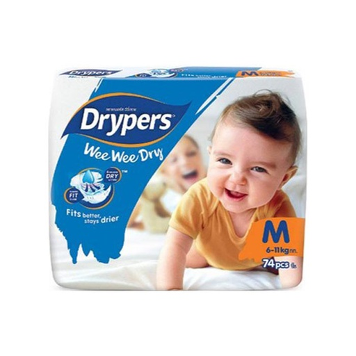 [I000297] Diapers | Drypers, Mega Medium 74'S