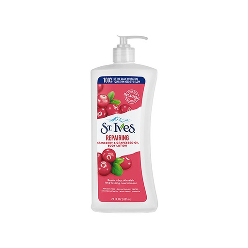 [I000576] Body Lotion Repairing Cranberry & Grapeseed Oil  | St. Ives  621 ml