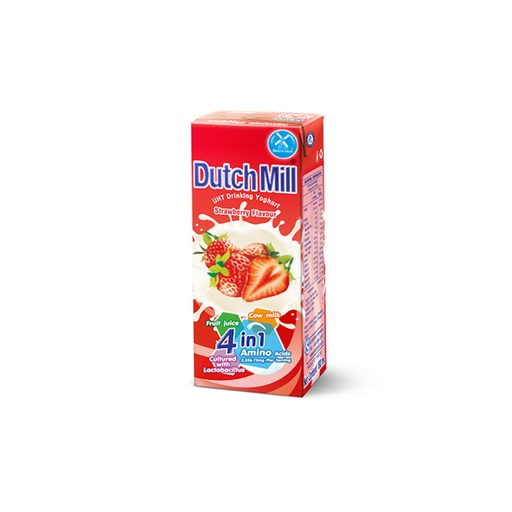[I000607] UHT Drinking Yogurt Strawberry Flavour | Dutch Mill 180 ml
