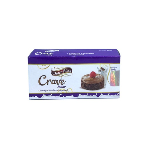 [I000798] Crave Milky Cooking Chocolate Compound | Choco Bliss 200g