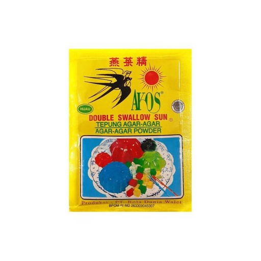 [I001059] Double Swallow Sun Agar-Agar Hijau (Green) 7 g