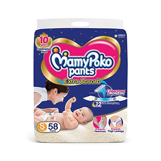 [I001115] Mamy Poko Pants Extra Absorb S 4-8kg (58 Pants)