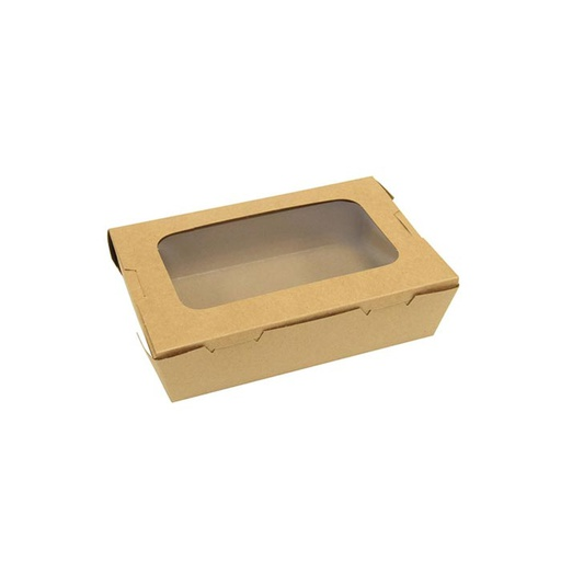 [I001204] Hotpack Kraft Paper Lunch Box with Window