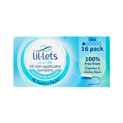 [I001457] Lil-Lets Smart Fit 16 Non-Applicator Lite Tampons