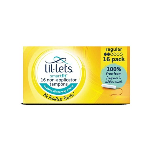 [I001458] Lil-Lets Smart Fit 16 Non-Applicator Regular Tampons