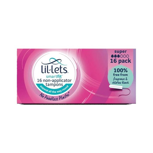 [I001459] Lil-Lets Smart Fit 16 Non-Applicator Super Tampons
