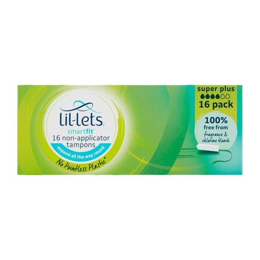 [I001460] Lil-Lets Smart Fit 16 Non-Applicator Super Plus Tampons