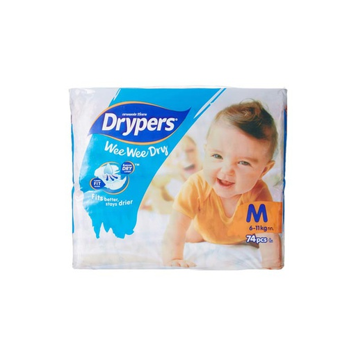 [I001489] Drypers Diapers Mega Medium 74'S