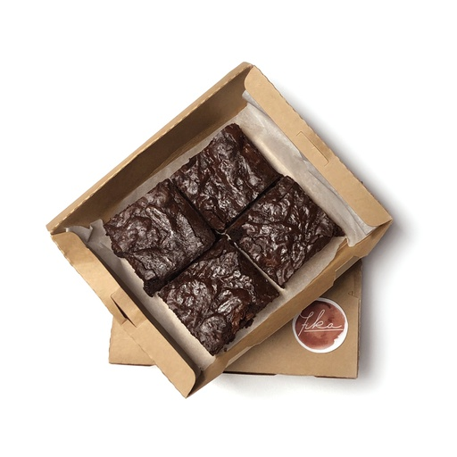 [I001533] Fika Dark Chocolate Brownies 4 Pcs Box