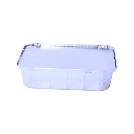 [I001614] Hotpack Aluminium Container Base + Lid | 244x244x48mm