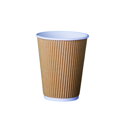 [I001620] Hotpack 8 Oz Kraft Ripple Coffee Cup
