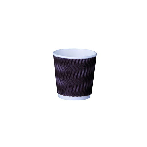 [I001621] Hotpack 4 Oz Zig-Zag Ripple Paper Coffee Cup