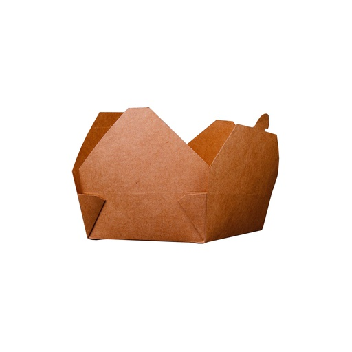 [I001627] Hotpack Kraft PE Take Away Box | 36 Oz