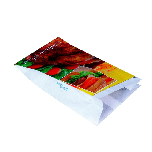 [I001632] Hotpack PE Coated Chicken Paper Bag | Large