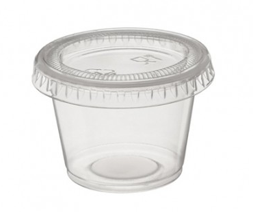 [I001633] Hotpack Clear Garlic Cups With Lid | 30cc