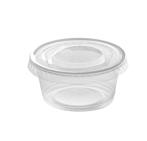 [I001635] Hotpack Microwaveable Clear Portion Cup 60ml + Lid