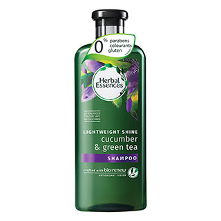 [I003095] Lightweight Shine Cucumber & Green Tea Shampoo | Herbal Essences 400ml